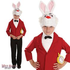 Boys mister #rabbit #alice in #wonderland book week fairytale fancy dress costume,  View more on the LINK: 	http://www.zeppy.io/product/gb/2/400867037029/