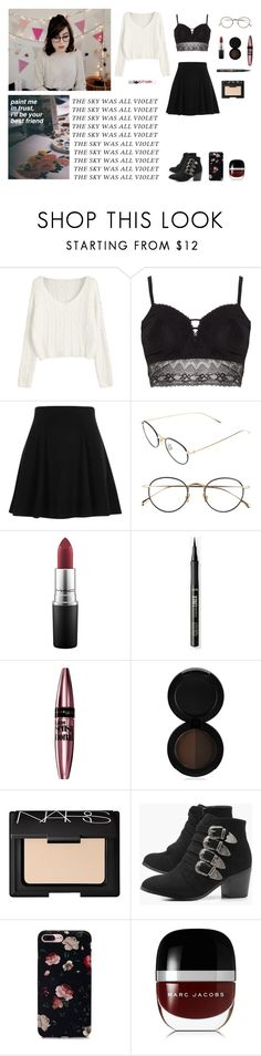 """A night like this"" by circe-1emon ❤ liked on Polyvore featuring Ashley Graham, River Island, Derek Lam, MAC Cosmetics, Maybelline, Sigma, NARS Cosmetics, Boohoo, Marc Jacobs and Blossom"