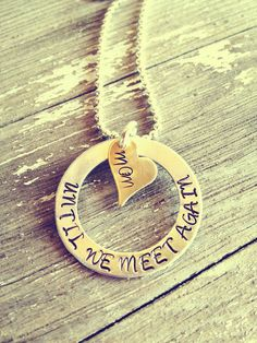 Hand Stamped Aluminum and Gold Until We by PrettyLittleThingsKB, $25.00