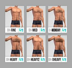 FOLLOWER GIFT - PART 2/6That's right, more body hair! And this time, it actually looks good on sims of all skin colours! No more grey/green/pinkish looking body hairs on certain skintones!  6 styles, all with 5 (FIVE) colours: Black, Brown,...