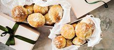 Rahkasämpylät | Makeat leivonnaiset | Reseptit – K-Ruoka Pretzel Bites, Bread Recipes, Rolls, Cheese, Baking, Food, Drink, Inspiration, Bakken