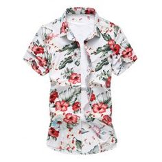 LONMMY Plus size Silk cotton flower mens shirts Casual floral shir – cgabuy Casual Shirts For Men, Men Casual, Plaid Shirt Outfits, Cool Outfits, Casual Outfits, Mens Hawaiian Shirts, Camisa Polo, Summer Shirts, Slim Fit