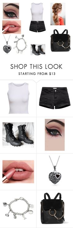 """""""Zombie Apocalypse"""" by kaylamoraled on Polyvore featuring H&M, Concrete Minerals, Bling Jewelry, Marvel and Chloé"""