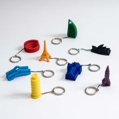3D printed City Keys, DCD-Design