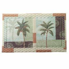 Bacova Palm Collage Bath Rug #coastal #beach #homedecor