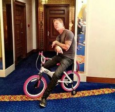 I can't stop laughing.I love him so much. James Hetfield