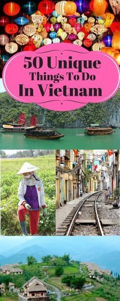 From kayaking through caves in Halong Bay to eating mysterious food in Hanoi and bonding with hill tribes in Sapa, here's 50 unique things to do in Vietnam. http://journalistontherun.stfi.re/2016/07/05/50-unique-things-to-do-in-vietnam/?sf=ebrepyd&utm_content=buffer7c93f&utm_medium=social&utm_source=pinterest.com&utm_campaign=buffer#aa