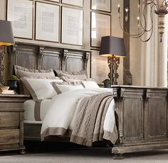 St James Panel Bed