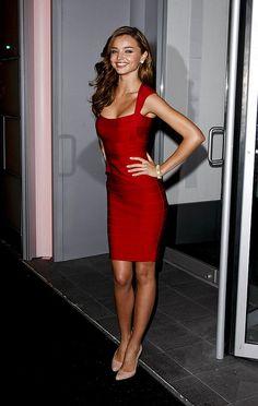 Miranda Kerr. Love this dress with nude pump..so pretty