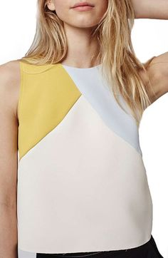 Topshop Colorblock Shell