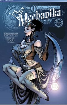 Lady Mechanika #0 - Variant Cover Art by Joe Benitez & Peter Steigerwald