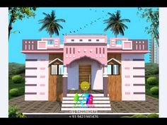 Village House Design, House Front Design, Village Houses, Modern Small House Design, Modern Design, Design Youtube, Balcony Railing Design, Front Elevation Designs, Mansions