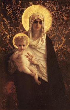 Herbert or Hebert Antoine Auguste Ernest - Virgin and Child