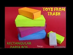 RECTANGULAR PAPER BOX - ENGLISH - 26MB - YouTube