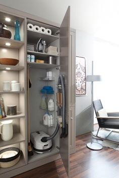 30 Small Bathroom Design Ideas for Your Home ~ Ideas for House Renovations Laundry Room Storage, Laundry Room Design, Kitchen Storage, Laundry Rooms, Kitchen Pantry, Storage Room, Bathroom Storage, Kitchen Cabinets, Small Laundry