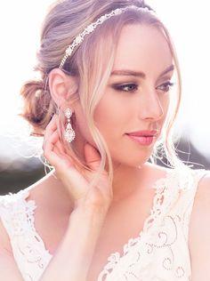 H25-Ivoire perle et cristal nuptiale serre-tête, bandeau, cheveux de mariée, parure de mariage, de mariage perle bandeau de mariée, coiffure de mariage