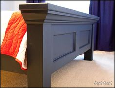 Bed Frame And Headboard, Diy Bed Frame, Headboards For Beds, Bed Frames, Pottery Barn Furniture, Bed Furniture, Pottery Barn Inspired, Wood Beds, Bed Design
