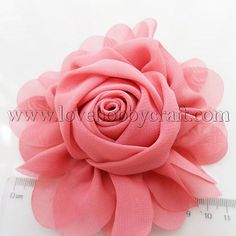 Handmade Flowers Rose Shape with Stamen IndianRed