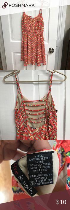 tribal orange open back dress tribal orange open back dress. nice and flowy!! Dresses Mini