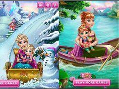 Juegos de Frozen - Frozen Elsa e Anna Cuida Su Bebé