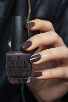 Krona-logical Order - rich espresso brown creme from the Iceland collection . OPI Krona-logical Order - rich espresso brown creme from the Iceland collection ., OPI Krona-logical Order - rich espresso brown creme from the Iceland collection . Opi Nails, Manicures, Shellac, Cute Nails, Pretty Nails, Classy Nails, Dark Nails, Purple Nails, Dark Color Nails