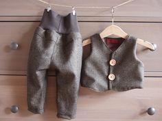 Hochwertiges Set aus Wolle, Taufanzug, Festanzug von Kleines Muckelchen auf DaWanda.com