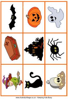 Printable Halloween Games - matching