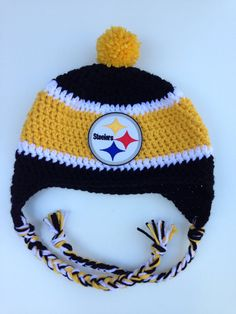Pittsburgh Steelers Crochet Hat by CraftyIAmKnot on Etsy Crochet Game c659e172b