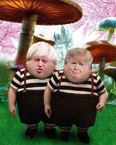 """Perhaps trumpty dumpty should visit his buddy in the hospital WITHOUT a mask, since even though the CDC is recommending that everyone wear one dumpty says its """"voluntary"""" and he's not gonna do it. Good luck with that orange shitfuck Cartoon Memes, Funny Memes, Hilarious, Stupid Memes, Funny Quotes, Political Satire, Political Cartoons, Trump Cartoons, Funny Signs"""