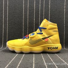 42fe066922b9 Online Custom Off-White X Nike Hyperdunk 2017 Warriors Yellow