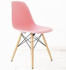 light pink eiffel chair with wood legs - Google Search