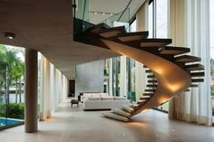 20 Best Outdoor Spiral Staircase Modern and Contemporary Stairs Architecture, Interior Architecture, Interior Stairs, Interior And Exterior, Escalier Art, Beautiful Stairs, Modern Stairs, Staircase Design Modern, House Stairs