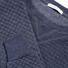 Alternative Light French Terry Quilted Crew Neck T-Shirt