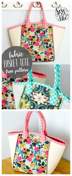 Fabric Basket Tote bag – FREE pattern