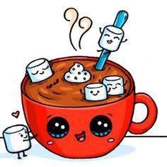 Hot Chocolate and Marshmallows~ Kawaii.