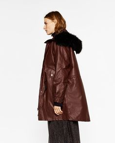 Image 2 of OVERSIZED HOODED PARKA from Zara