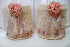 Romantic shabby chic lampshade set rows of by AnitaSperoDesign, $220.00