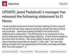 Some good news on Jared!!! :) @emilybarber96 @ittybitty995