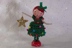 Christmas Clothespin Doll