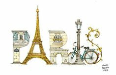 Paris  🇫🇷 🥖🧀🍷⚜️ Paris 3, I Love Paris, Tour Eiffel, Paris Travel, France Travel, Paris Illustration, Romantic Paris, Paris Images, French Restaurants