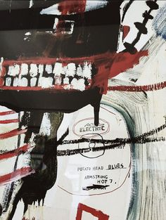 C.S. ARMSTRONG‏ (@lifeofarmstrong): Discovered pieces of myself in a Basquiat painting