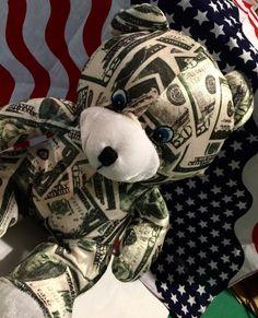 Money Bear - Valentine's Day Gift by CoryCranksOutHats on Etsy
