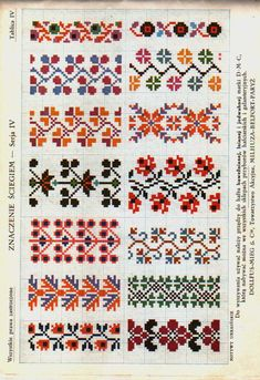 This Pin was discovered by Zey Just Cross Stitch, Cross Stitch Borders, Cross Stitch Flowers, Cross Stitch Charts, Cross Stitch Designs, Cross Stitching, Cross Stitch Patterns, Folk Embroidery, Beaded Embroidery
