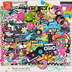 Maby Scrapbook: Back to the 80s - Neia Arantes - Collab Kit