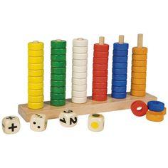 --- Kleurenstokjes --- Met de ringen in 6 kleuren en de 3 verschillende dobbelstenen kunnen de kinderen veel verschillende spellen spelen rond kleur en hoeveelheid. Formaat: 32,5 x 6 x 18 cm (l x b x h). 523 125