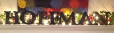 Free Standing Wood Painted Letters by AJsPrivyCreations on Etsy, $14.00