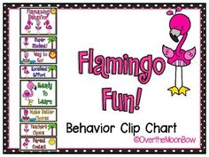 This fun, flamingo themed behavior chart fits in well with the 'green–yellow–red' behavior system used in many schools, yet provides positive recognition for students who go above & beyond. Perfect for your themed classroom or just for fun!