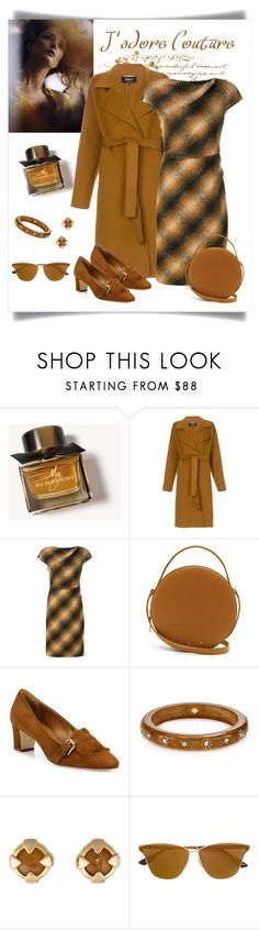 """Paule Ka Brown Checked Dress Look"" by romaboots-1 ❤ liked on Polyvore featuring Burberry, Rochas, Paule Ka, PB 0110, Manolo Blahnik, Kate Spade, Givenchy, McQ by Alexander McQueen and INC International Concepts"
