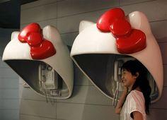 Hello Kitty Phone Booths