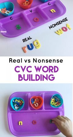 Nonsense Words Activity that will help kindergarten, first grade, and 2nd grade kids practice turning nonsense words into real words with a fun hands on spelling activity.